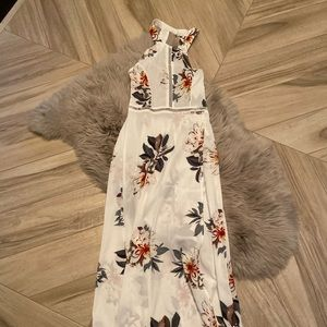 White Floral Coverup